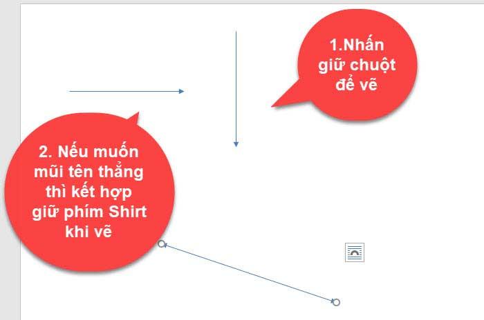 Cách vẽ các loại mũi tên trong word