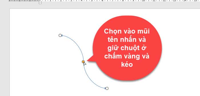 Cách vẽ mũi tên trong word