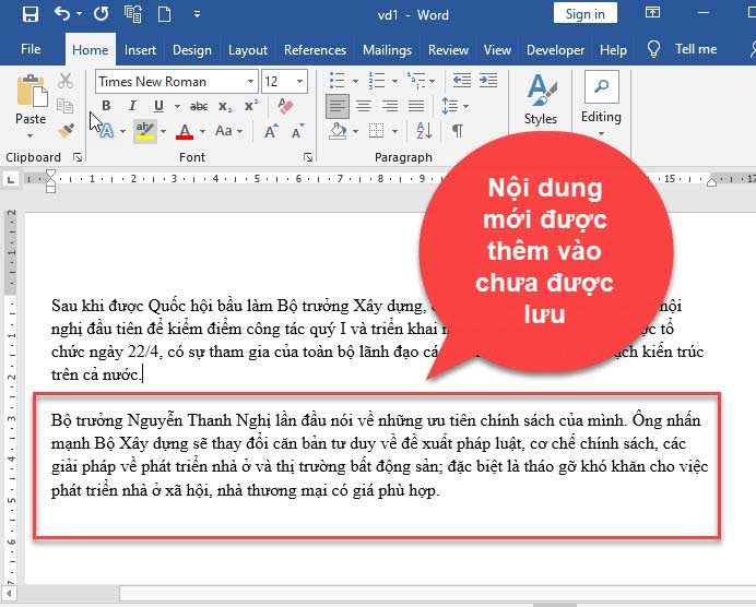 hướng dẫn lấy lại file word