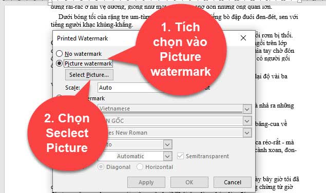 cách đống dáu bản quyền cho văn bản